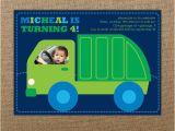 Garbage Truck Birthday Invitations Garbage Truck Birthday Invitation Printable Boy Birthday
