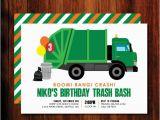 Garbage Truck Birthday Invitations Garbage Truck Birthday Invitations Garbage Trash Bash
