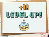 Geek Birthday Gifts for Him Funny Birthday Card Level Up Gamer Birthday Card