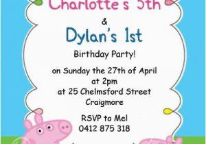 George Pig Birthday Invitations Childrens Peppa