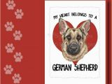 German Shepherd Birthday Cards German Shepherd Card German Shepherd Greeting Card German