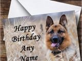 German Shepherd Birthday Cards German Shepherd Dog Personalised Birthday Card the Card Zoo