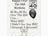 Giant 40th Birthday Card Happy 40th Over the Hill Birthday Giant Card Zazzle Com
