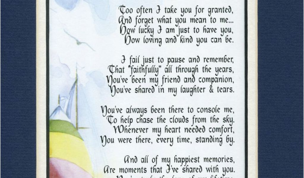 Gift Card Poem For Birthday Quot My Husband A Sentimental