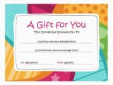 Gift Cards for Birthdays Online Free Printable Gift Certificates Gift Certificates