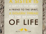Gift for A Sister On Her Birthday Sisters Gift Print Personalized Gift for Your Sister