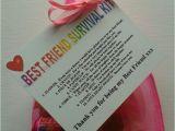 Gifts for Best Friend On Her Birthday Best Friend Survival Kit Birthday Keepsake Gift Present
