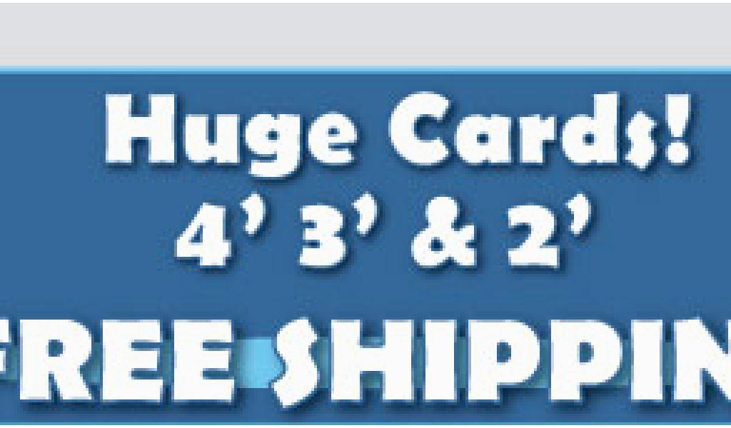Gigantic Birthday Cards Giant Birthday Cards 4 39 Tall Greeting