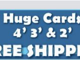 Gigantic Birthday Cards Giant Birthday Cards 4 39 Tall Greeting Cards Big Funny