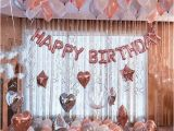 Ginger Ray Rose Gold Happy Birthday Banner Rose Gold Happy Birthday Decoration Set 21st Birthday