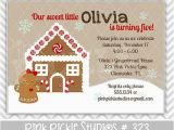 Gingerbread House Birthday Invitations 15 Best Images About Party Ideas Gingerbread Birthday On