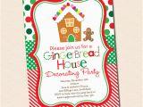 Gingerbread House Birthday Invitations 20 Gingerbread House Decorating Party Invitations