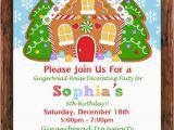 Gingerbread House Birthday Invitations Gingerbread Birthday Invitation Gingerbread House Decorating