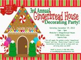 Gingerbread House Birthday Invitations Gingerbread House Decorating Party Invitations Red and Green