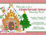 Gingerbread House Birthday Invitations Gingerbread House Decorating Party Printable Invitation