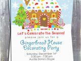 Gingerbread House Birthday Invitations Gingerbread House Decoration Party Invitation E File