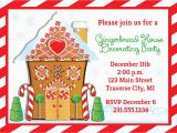 Gingerbread House Birthday Invitations Gingerbread House Invitation Christmas Decorating Party