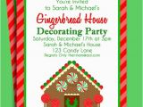 Gingerbread House Birthday Invitations Gingerbread House Invitation Printable Christmas Party or