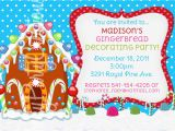 Gingerbread House Birthday Invitations Gingerbread House Party Invitations Cimvitation