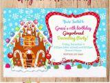 Gingerbread House Birthday Invitations Items Similar to Gingerbread House Invitation You Print