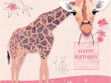 Giraffe Birthday Card Sayings Cards Victoria Hooper Duckham