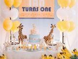 Giraffe Birthday Party Decorations Giraffe theme Birthday Quot Giraffe 1st Birthday Party
