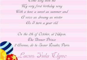 Girl Birthday Invitation Message Baby Boy 1st Birthday Invitation Wording Wedding