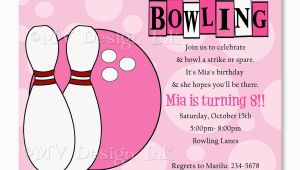 Girl Bowling Birthday Party Invitations Bowling Party Invitations Templates Ideas Bowling Party