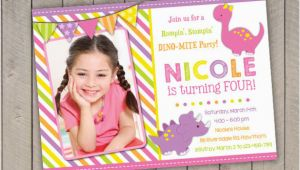 Girl Dinosaur Birthday Invitations 15 Dinosaur Birthday Invitations Free Psd Vector Eps