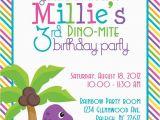 Girl Dinosaur Birthday Invitations Dino Mite Dinosaur Birthday Party 5×7 Invitation Girl Diy