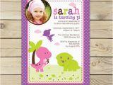 Girl Dinosaur Birthday Invitations Girl Dinosaur Birthday Invitation Printable Pink Dinosaur