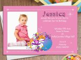 Girl First Birthday Invitations Photo 10 Personalised Girls First 1st Birthday Party Photo