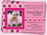Girl First Birthday Invitations Photo Girl First Birthday Invitations