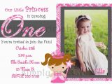 Girl First Birthday Invitations Photo Girls First Birthday Invitation for Princess Party
