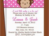 Girl Monkey Birthday Invitations Items Similar to Monkey Girl Invitation Printable or