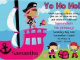 Girl Pirate Birthday Invitations Girl Pirate Birthday Invitation Printable or Printed