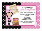 Girl Pirate Birthday Invitations Girl Pirate Birthday Invitations Best Party Ideas