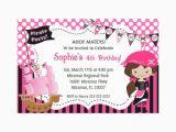 Girl Pirate Birthday Invitations Girl Pirate Invitation Printable orderecigsjuice Info