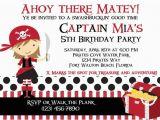 Girl Pirate Birthday Invitations Girl Pirate Party Invitation orderecigsjuice Info