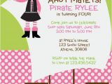 Girl Pirate Birthday Invitations Girl Pirate theme Party Invitation by Cohenlane On Etsy