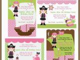 Girl Pirate Birthday Invitations Items Similar to Girl Pirate Invites Blank Invitation