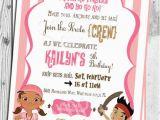 Girl Pirate Birthday Invitations Jake and the Neverland Pirates Birthday Invitation Printable