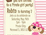 Girl Pirate Birthday Invitations Nslittleshop Party Decorations and More Fairy and Pirate