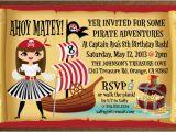 Girl Pirate Birthday Invitations Pirate Girl Birthday Invitation Di 247 Harrison