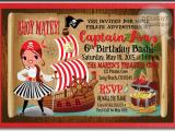 Girl Pirate Birthday Invitations Pirate Girl Birthday Invitations Di 247 Harrison