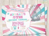 Girly Birthday Invitation Templates 26 Carnival Birthday Invitations Free Psd Vector Eps