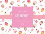 Girly Birthday Invitation Templates Cute Template for Scrapbook Girly Design Stock