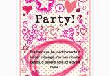 Girly Birthday Invitation Templates Girly Party Invitations Cards On Pingg Com