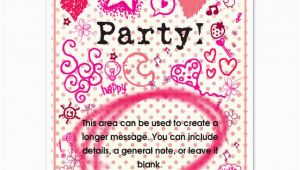 Girly Birthday Invitation Templates Girly Party Invitations Cards On Pingg Com