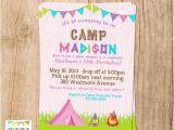 Girly Birthday Invitations Free Printable Girly Camping Invitation Birthday Sleepover You Print